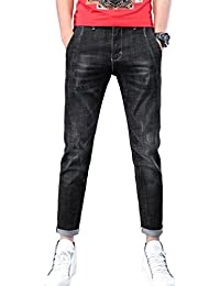 8d6eaf2763 Xinwcang Hombre Vaqueros Casual Skinny Jeans Elastizado Slim Fit Fashion Pantalones  Rectos Tejanos Denim