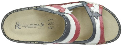 Hans Herrmann Collection HHC, Mules femme Rouge - Rot (rot-weiß-blau)