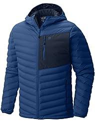 MOUNTAIN HARDWEAR MENS STRETCHDOWN HOODED JACKET NIGHTFALL BLUE (X-LARGE)