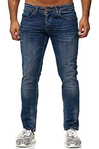 Elara Herren Jeans | Slim Fit Hose Denim | Strech Style | Chunkyrayan 16533-Blau-33W / 30L