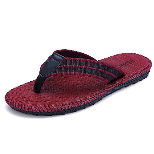 Yunguang eur 40-46 sandali ortopedici da uomo o da donna con grande supporto plantare sandali da infradito da spiaggia eleganti per fascite plantare (color : rosso, dimensione : 42 eu)