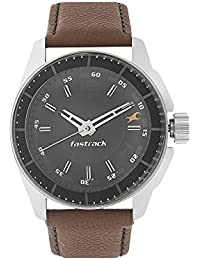 Fastrack Men's Casual Wrist Watch With Analog Function Quartz Mineral Glass Water Resistant With Silver Metal...