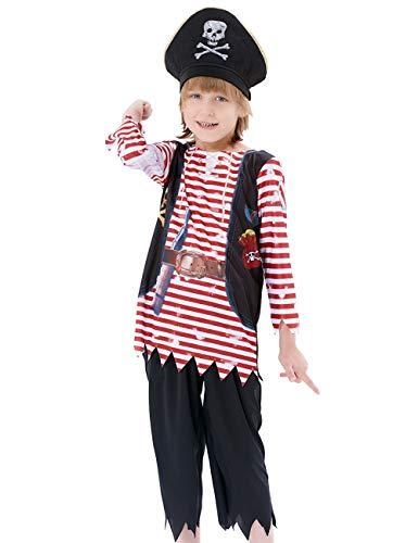 Ikali partito della decorazione / accessori, fai finta di giocare costume da pirata, bambino piccolo ragazza ragazzo suit fancy dress