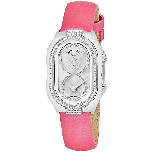 Philip Stein Women's Prestige Diamond Pink Swiss Quartz Watch 14DP-IDW-IP