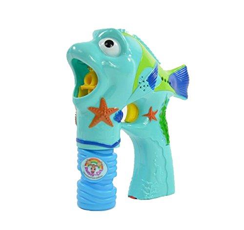 Seifenblasenpistole Fisch mit Licht und Musik 16,5x6,5x17,5cm Blister