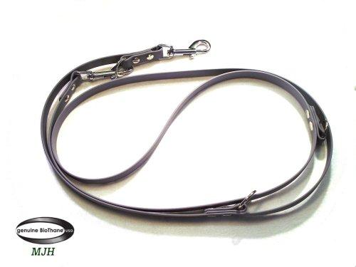MJH Führleine BETA-BioThane 3-fach verstellbar 2m 13mm grau; für Hunde ab ca. 10-25kg