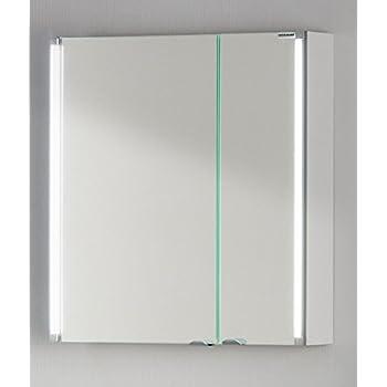 FACKELMANN Spiegelschrank, Holz, Silber, 16,5 x 61 x 67 cm: Amazon ... | {Spiegelschrank holz 70}