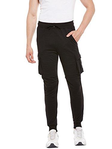 Gritstones Black Regular Fit Track Pant for Men GSTRKPNT1537BLK_S