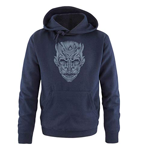 Just Style It - The Night King - Game of Thrones - Herren Hoodie - Navy/Eisblau Gr. L