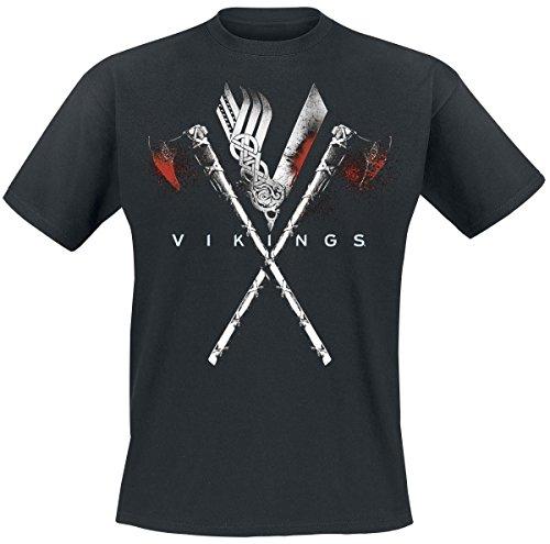 vikings-axe-to-grind-camiseta-negro-l