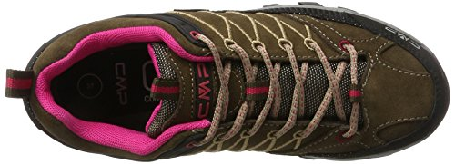 CMP Rigel Low WP, Chaussures de Randonnée Basses Femme Marron (Wood-magenta)