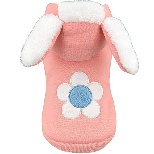 YSDTLX Haustier Kleidung Kaninchen Baumwolle Mantel Welpen Kleidung Herbst Und Winter Katze Kostüm