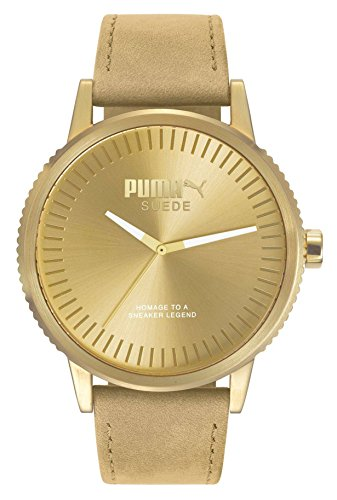Puma Reloj Analógico para Hombre de Cuarzo con Correa en Cuero PU104101009