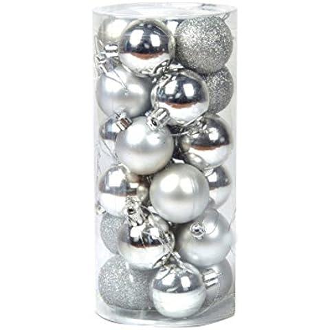 ESHOO Palle di Natale ornamenti infrangibili i pendenti per la decorazione di festa di Natale