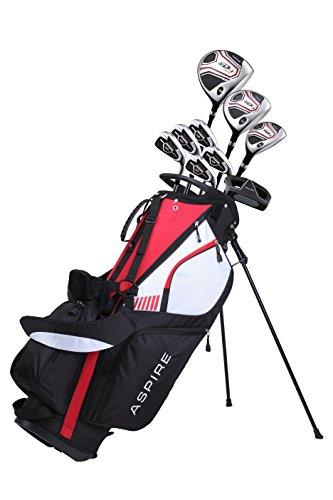 Aspire XD1Herren Komplettes Golfschläger-Set inkl. titan Driver, S.S. Fairway, S.S. Hybrid, S.S. 6-pw Eisen, Putter, Ständer Tasche, 3H/C 's Right Hand (Rechte Hand)