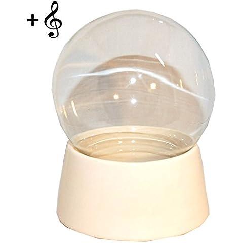 40022 150mm-Do-it-Yourself Palla di neve con palla di vetro e di base in porcellana per montaggio scatola musicale