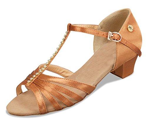 Minitoo - Ballroom donna Brown-5cm Heel