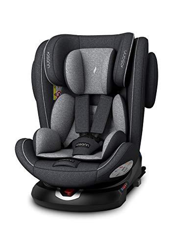 Osann 108-238-279 ENO360° Kinderautositz Gruppe 0+/1/2/3 (0-36 Kg) Dark Grey Melange