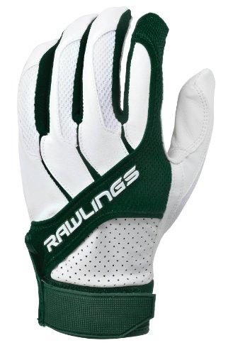 Rawlings Erwachsene Batting Handschuhe, dunkelgrün - Handschuhe Rawlings