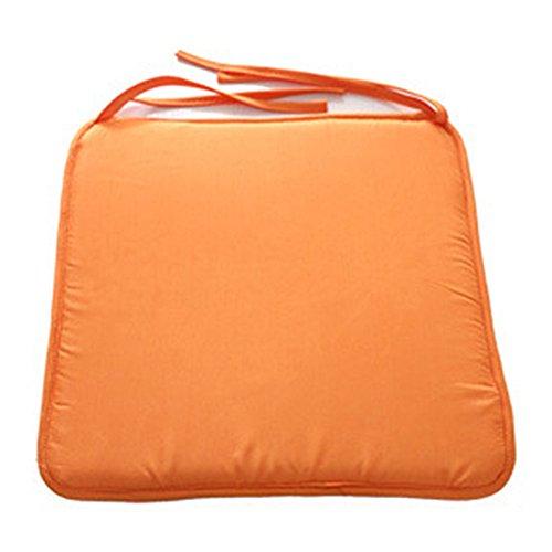 RIsxffp Kissen 40 x 40 cm Kissen für draußen, quadratisch innen, weiches Schleifenband an der Stuhl-Dekoration für das Haus Orange - Stuhl Aufblasbare Cafe