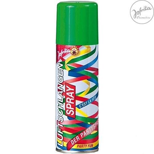 Luftschlangenspray grün, Der ultimative Party Spaß. Luftschlangen Sprühdose mit 125 ml Inhalt.
