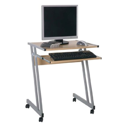 Media Beech Computer Desk/Trolley, 91757