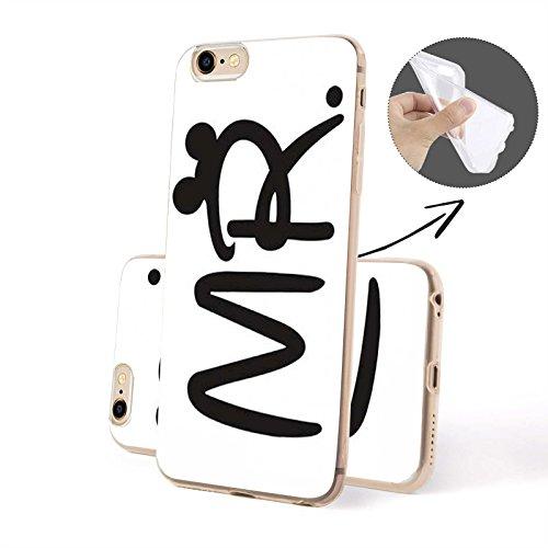 Finoo ® | Iphone SE Handy-Tasche Schutzhülle | ultra leichte transparente Handyhülle aus weichem und flexiblen Silikon | kratzfester stoßdämpfende TPU Schale mit Motiv | stylisches Cover Etui | Case B Mr. SILIKON