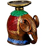 Kavya Home Decoe Wooden Base Candle Stand Showpiece