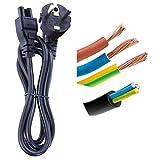DTK Power Kabel Portable Clover Netzkabel 1.2M für Laptop für HP Ladegerät DELL ASUS ACER SONY LENOVO SAMSUNG Mit Power CEE7 3 Wege nach C5 Buchse