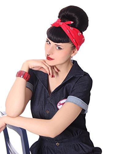 SugarShock 50s retro Polka Dots Pin Up Rockabilly Hairband Frisuren Haar Tuch Nickituch Bandana