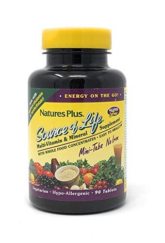 Nature's Plus Source of Life® Mini-Tabs No Iron Eisenfrei 90 Mini-Tabletten (182,7g) -