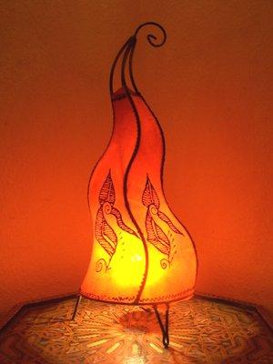 Orient stehlampe Mogador Orange 60cm