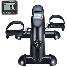 Pedales Estaticos Ejercicio de Mini Bicicleta con Monitor LCD Para Pierna y el Brazo de Rehabilitación