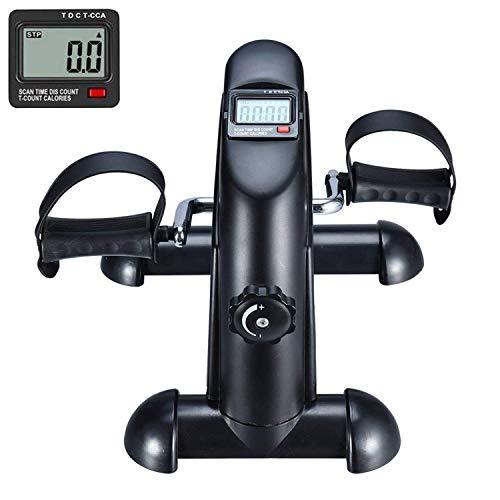 Pedales Estaticos  Ejercicio de Mini Bicicleta con Monitor LCD Para Pierna y el Brazo de Rehabilitación Black