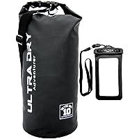 Premium impermeabile per sacco, con borsa e tracolla lunga regolabile incluso, ideale per campeggio/pesca/Rafting/Nuoto/Canottaggio/Vela/Kayak/Snowboard, Black, 10 litri