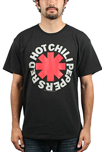 Camiseta Oficial Red Hot Chili Peppers Distressed Asterisk (Negro)