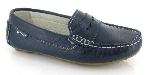 Garvalin, Scarpe da barca bambine Blu Azul marino