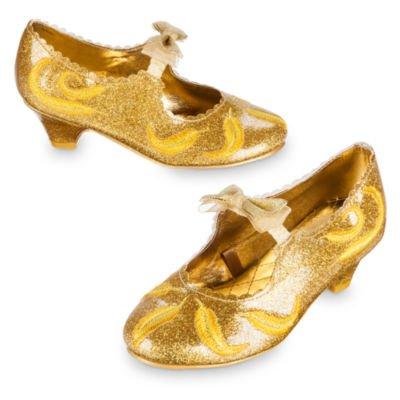 Belle Kostüm Schuhe für Kinder, Schönheit und das Biest, Größe - Lumiere Kind Kostüm