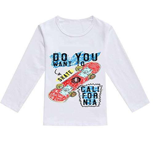 JUTOO Kleinkind Baby Kinder Jungen Mädchen Frühling Niedlichen Cartoon Print Tops T-Shirt Lässige Kleidung (Orange,110)