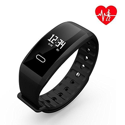UWATCH Fitness Tracker,Fitness Armbanduhr Wasserdicht Fitness Tracker HR mit Herzfrequenz/Schlafanalyse / Kalorienzähler/Aktivitätstracker Schrittzähler - Smart Fitness Armband Android IOS