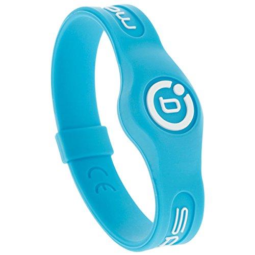 Bioflow Silikon-Armband zur Magnetfeldtherapie L (20,5 cm) Neonblau