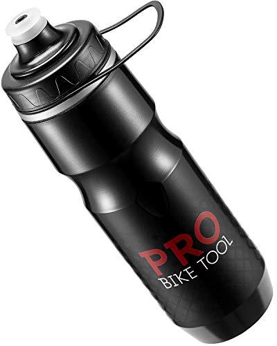 PRO BIKE TOOL Isolierte Fahrrad-Trinkflasche 680 ml, Bonus Sport-Trageschlaufe - zum Radfahren & Fitness - hält Getränke länger kalt, weiches Silikon-Mundstück - BPA-frei