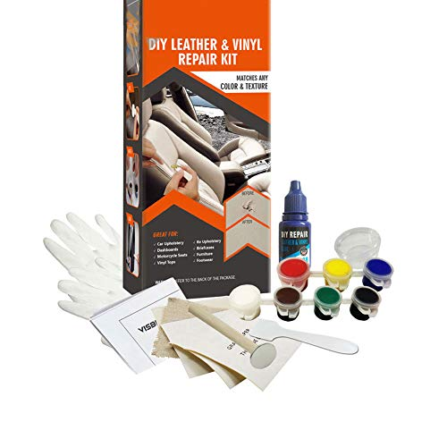 lzndeal DIY Leather Vinyl Repairing Glue Kit Fix Holes Rips Upholstery Clothing Car Seat