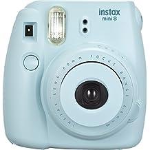 Fujifilm Instax Mini 8 - Cámara analógica instantánea (flash, velocidad de obturación fija de 1/60 s), color azul