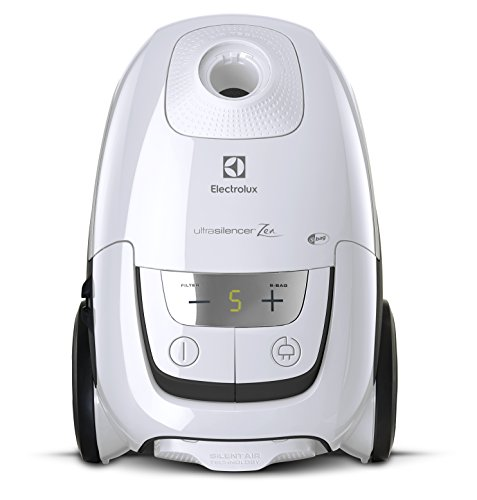 Electrolux Staubsauger (Electrolux eus8alrgy Staubsauger mit Beutel, UltraSilencer, Silent Zen, Absaugsystem AeroPro, Tasche S-Bag Clinic Anti Allergy, System Motion Control, Ice White, 3.5 liters)