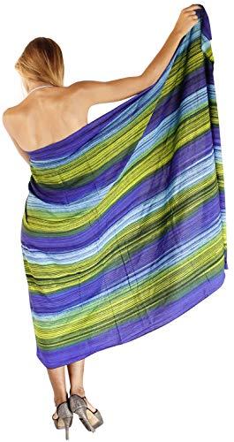 Frauen weiche Hand tie dye Vertuschung Rock Bikini Wrap Badeanzug Rayon Rock blau 3X -