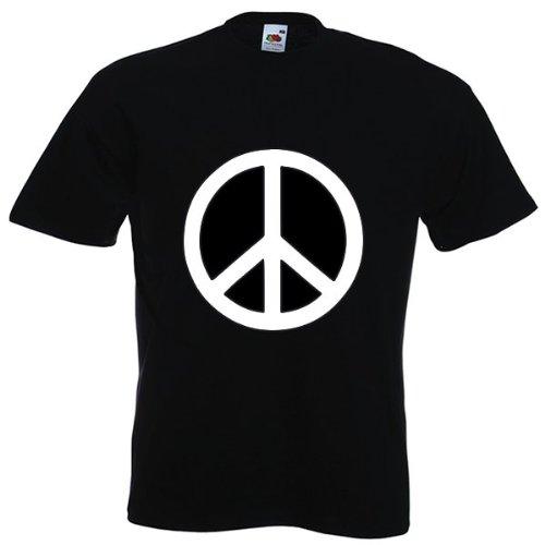 t-shirt Peace And Love couleur noir taille L
