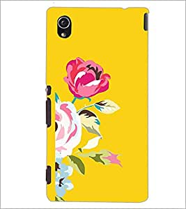PrintDhaba Flower D-1981 Back Case Cover for SONY XPERIA M4 AQUA (Multi-Coloured)