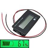 Yongse 3Pcs 12V/24V/36V/48V 8-70V LCD Acid Lead Lithium Battery Capacity Indicator Digital Voltmeter