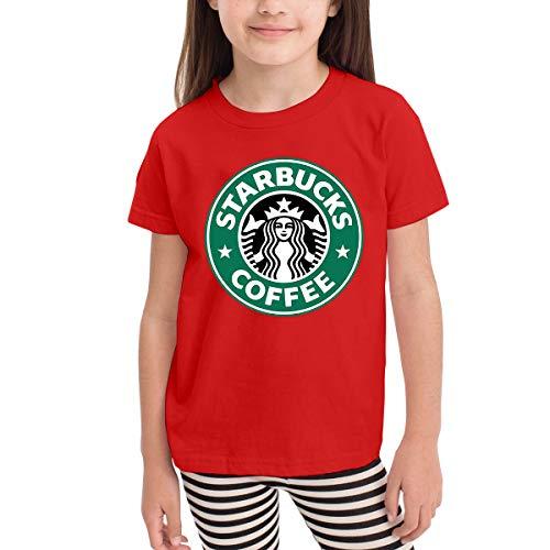Kinder Baby Mädchen Jungen Sommer T-Shirt Starbucks Logo T Shirt Shirts Für Kleinkind Mädchen Jungen Kurzhülse Rot 5/6 T Yellow Footed Sleeper